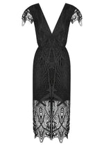 Tribal Lace Dress - Black - FLASH SALE - NOW ONLY $189 - ONLY A FEW 10 AND 12S LEFT