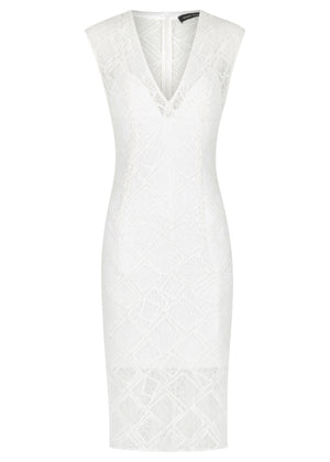 Stretch Lace Mini Dress - Ivory - FLASH SALE - NOW ONLY $79