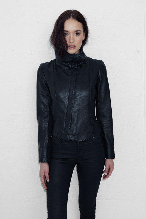 Leather Tumble Jacket - NEW ARRIVAL - SIZE 6 to 16 -$100 off CODE: WSGIFT $499 limited time SELLING FAST