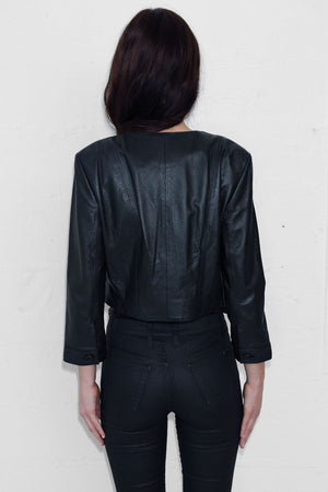 Cropped Leather Jacket 3|4 Sleeve - ALMOST SOLD OUT
