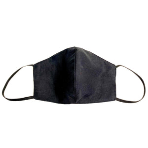 3 Layer Curve Fit Washable Mask - Black Viscose Linen - Made in Australia