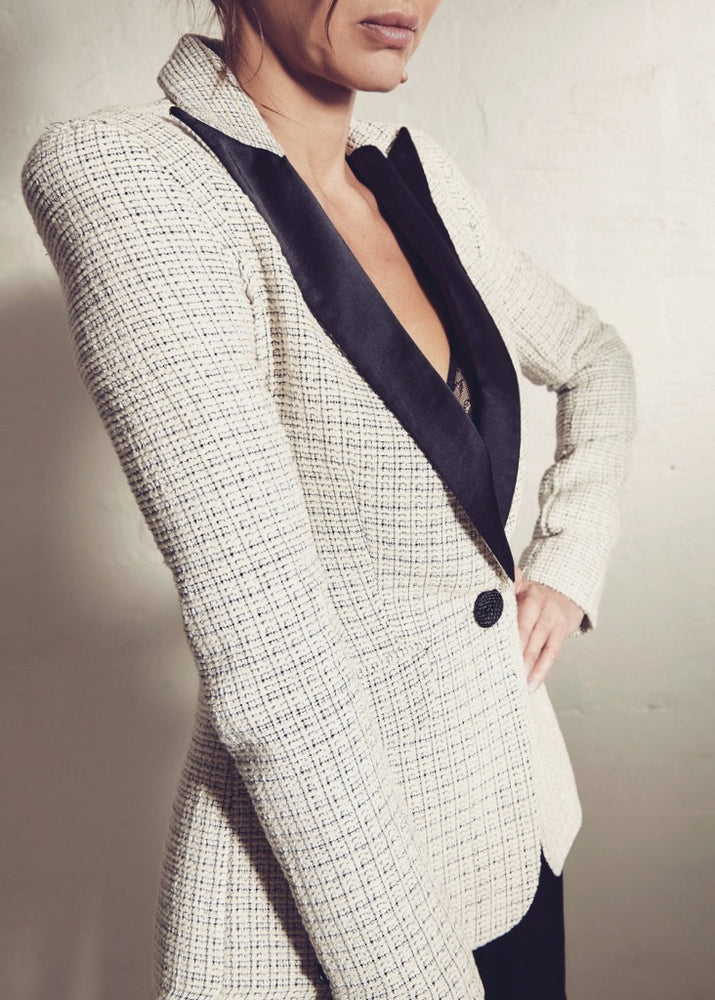 Parisian Boucle Shoulder Tuxedo 1.02 - Ivory - SOLD OUT - CUSTOM ORDER AVAILABLE