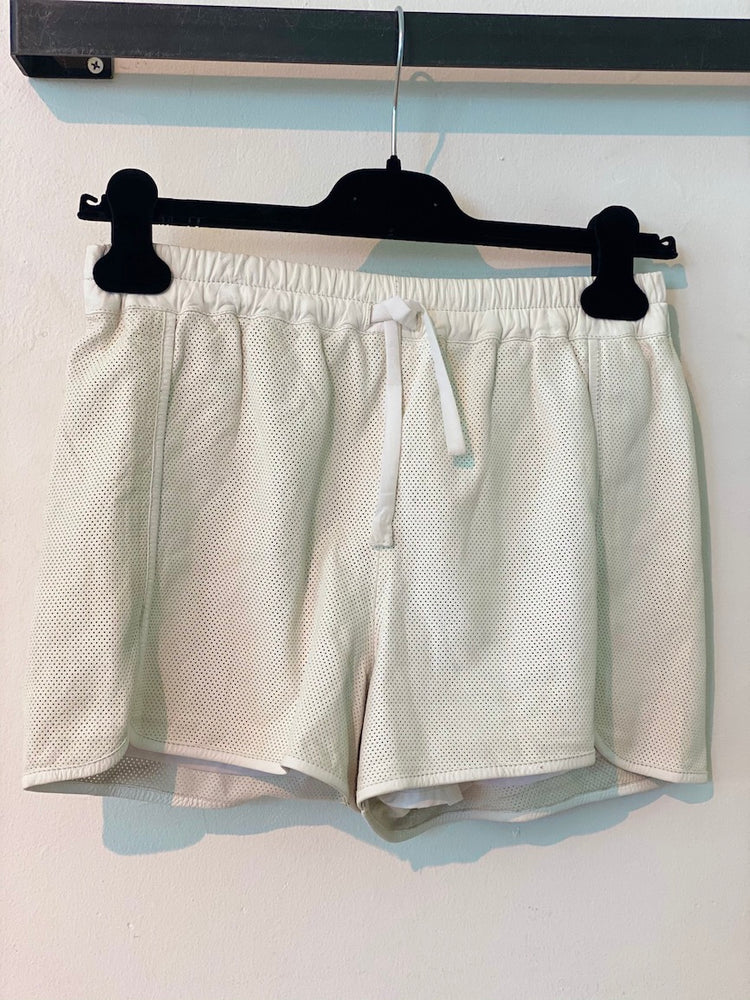 ARCHIVE SAMPLE - Leather Running Short - White - Size 8