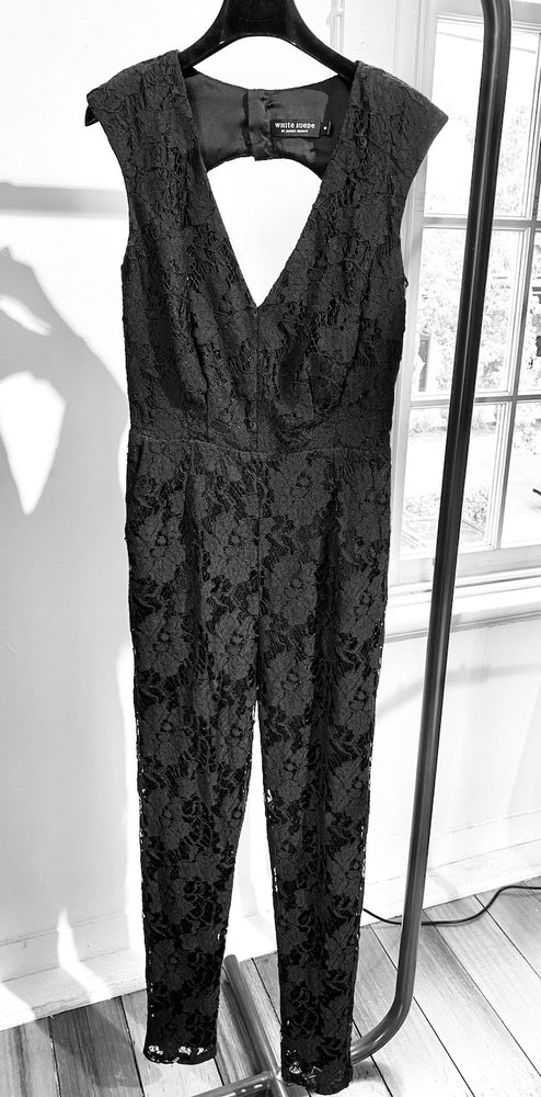 ARCHIVE SAMPLE - Lace Jumpsuit - 1 ONLY - Size 8 (smaller petite fit)