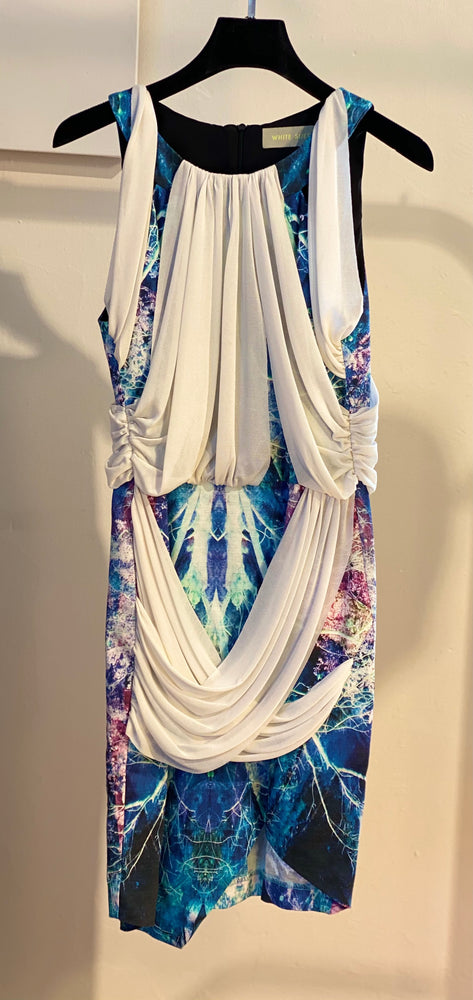 ARCHIVE SAMPLE - Over & Under Dress - Electric Landscape - 1 x size 8 ONLY