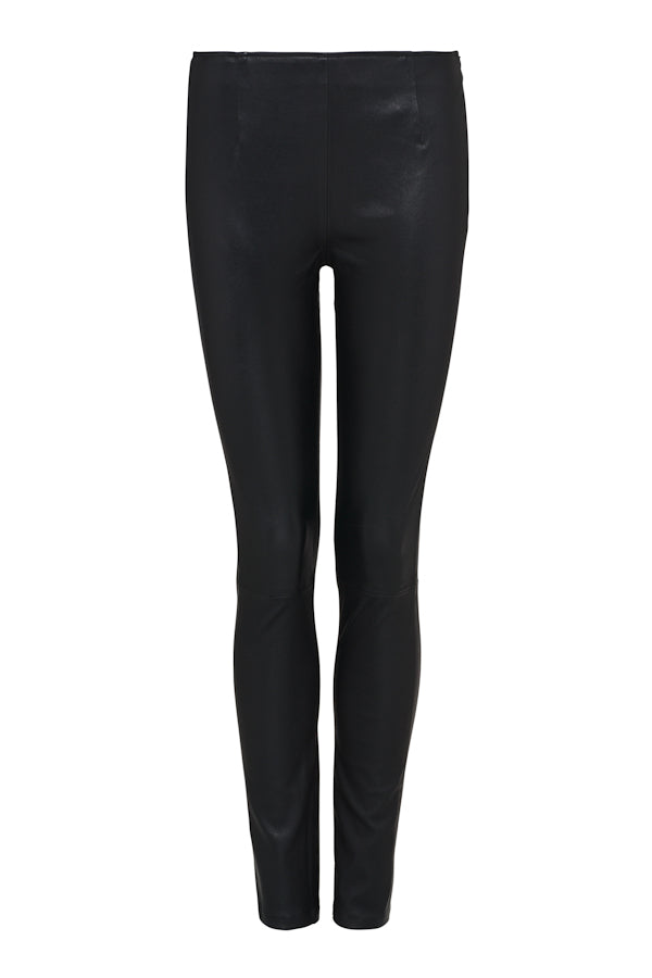 Stretch Leather Cigarette Pant