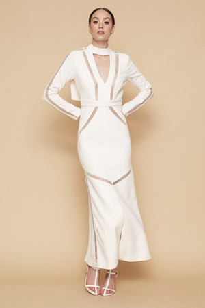 The Ladder Dress - Ivory - SPRING INTO IT SALE - NOW ONLY $99 - SIZE 6 & 8 ONLY
