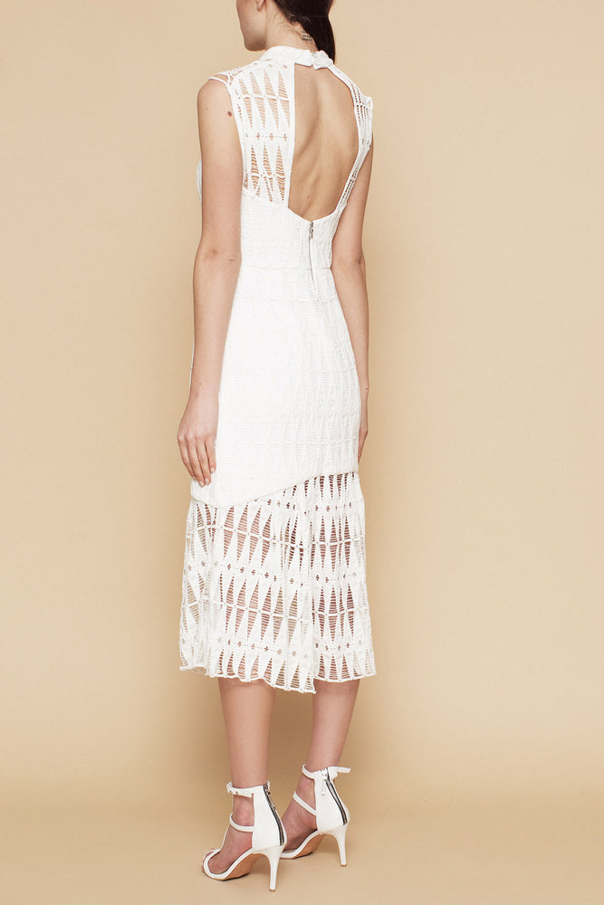 NEW RELEASE - Valerie Fishbone Lace Dress -WHITE LACE - FLASH SALE - NOW ONLY $99