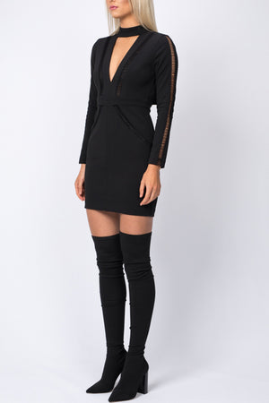 Mini Ladder Dress - Black - SPRING INTO IT SALE - SIZE 8 ONLY 2 x LEFT - NOW ONLY $99
