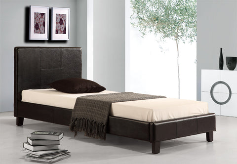 Palermo Single Bed PU Leather - Black
