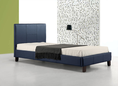 Palermo Single Bed PU Leather - Blue