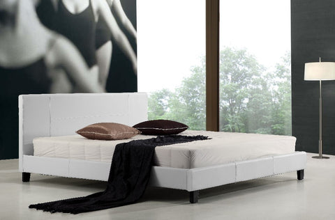 Palermo King Bed Frame PU Leather - White