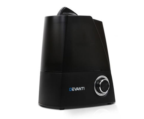 Ultrasonic Cool Mist Air Humidifier - Black