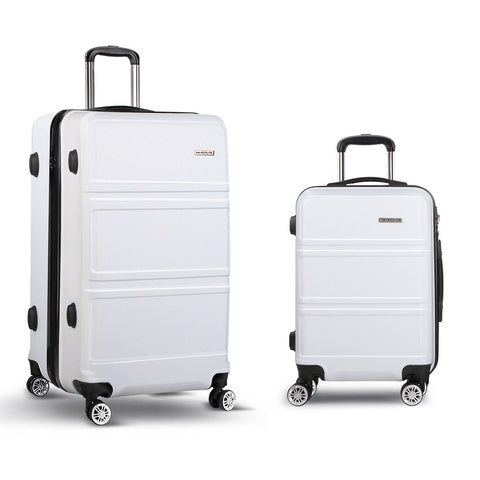 "2pc Luggage Set 20 and 28"" - White"""