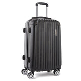Hard Shell Travel Luggage with TSA Lock Black
