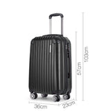 Hard Shell Travel Luggage - Black