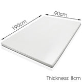 Visco Elastic Memory Foam Mattress Topper 8cm Single