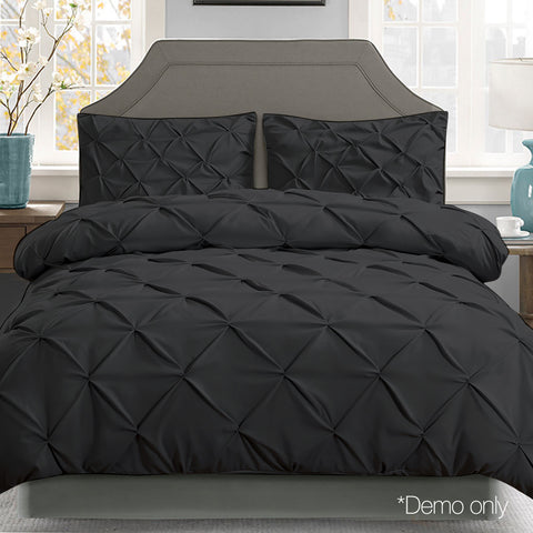 King 3-piece Quilt Set - Black