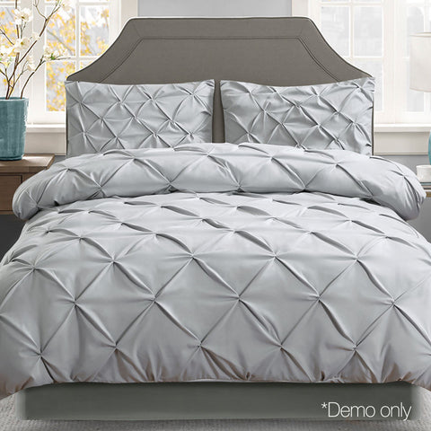Queen 3-piece Quilt Set - Grey