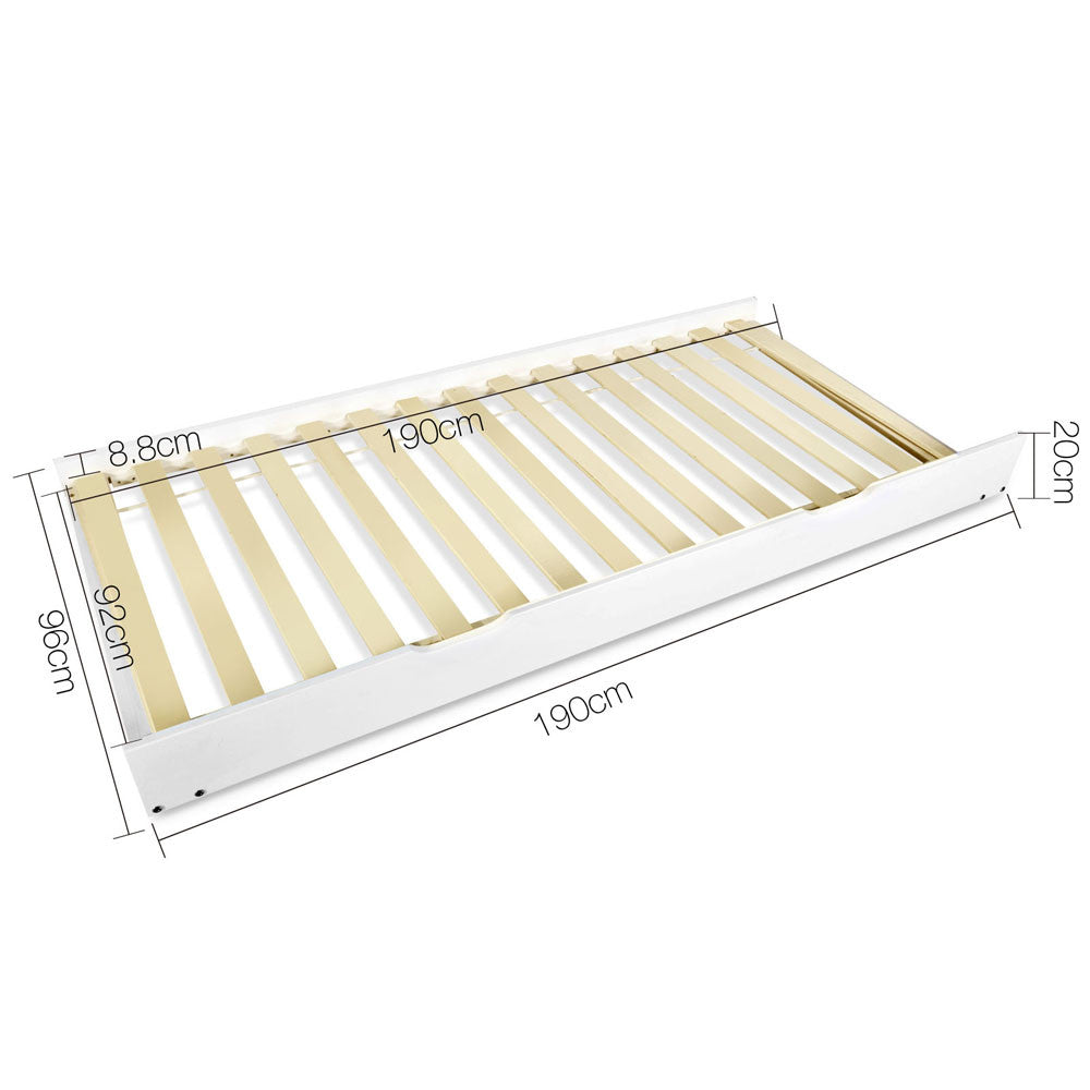 wooden trundle bed frame single - Wooden Trundle Bed Frame