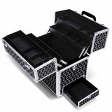 Portable Cosmetic Beauty Carry Case Box - Black