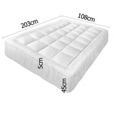 Pillowtop Mattress Topper Memory Resistant Protector Pad Cover King Single