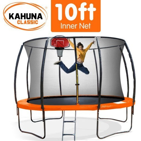 Kahuna 10FT Trampoline With Basketball Set - Orange