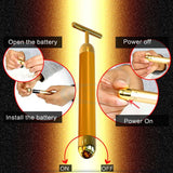 Face Slimming 24k Gold Facial Beauty Roller - Store One Way
