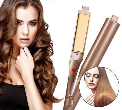 GLOW® 2-IN-1 CURLING AND STRAIGHTENING IRON - Store One Way