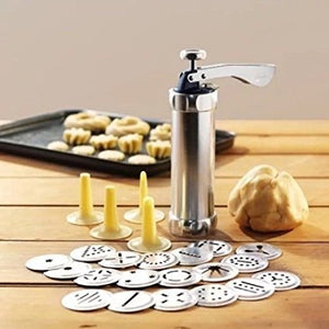 Cookie Press 20 Discs & 4 Icing Tips - Store One Way