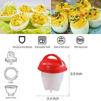 Egg Cooker Set for Soft & Hard Boiled Eggs - Store One Way