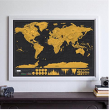 Map Of The World Travel Edition Deluxe - Store One Way