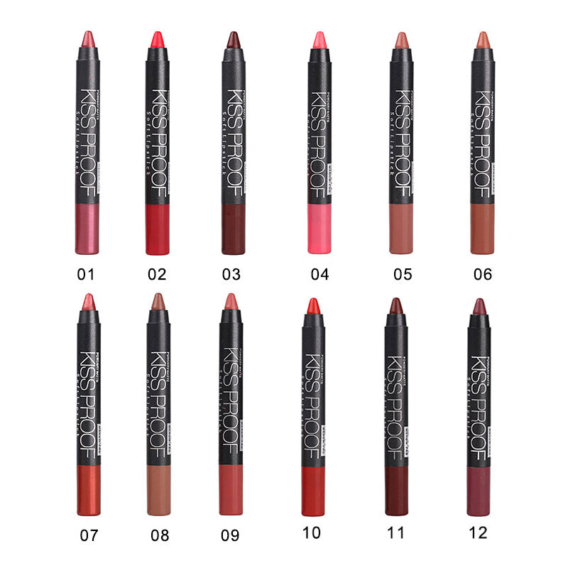NudeBeauty™  12 Color/set Sexy Beauty Waterproof Lipstick - Store One Way