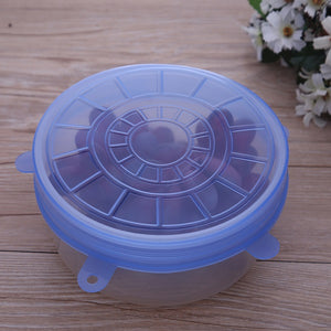 6 Extensible Silicone Lids - Store One Way