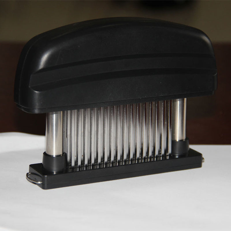 Meat Tenderizer- 48 Ultra Sharp Stainless Steel Blades - Store One Way