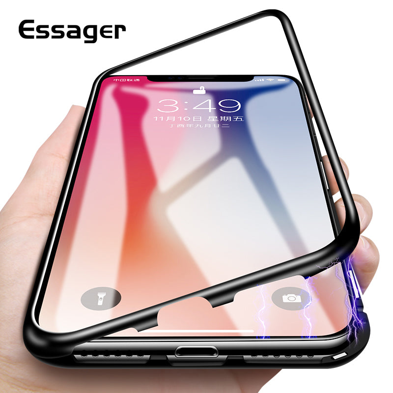 coque iphone 6 with metal back for magnet