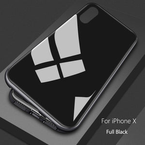 Essager Ultra Magnetic Adsorption Phone Case For iPhone X 10 8 7 6 6S S Plus Coque Luxury Metal Magnet Back Glass Cover Fundas