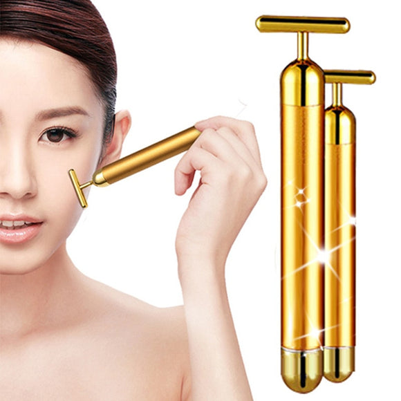 Face Slimming 24k Gold Facial Beauty Roller