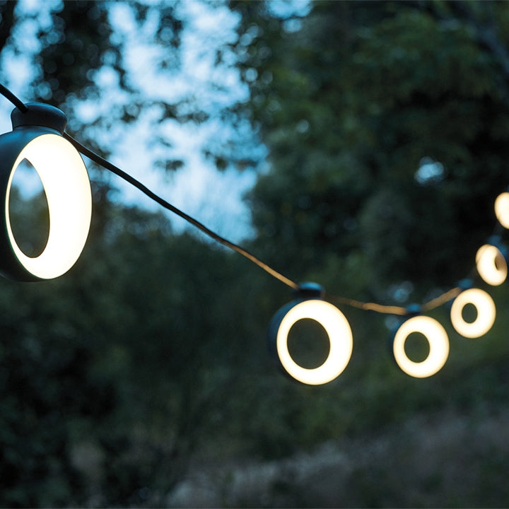 Fermob | HOOP - a modern outdoor lighting garland, big on tech and style!
