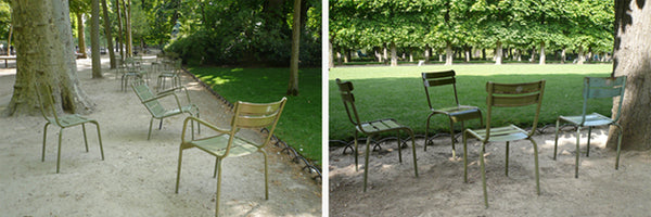 Senat Chairs pictured in the Jardin du Luxembourg in Paris