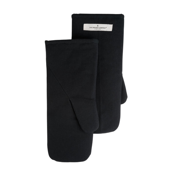 THE ORGANIC COMPANY | Oven Mitts | Large | Black