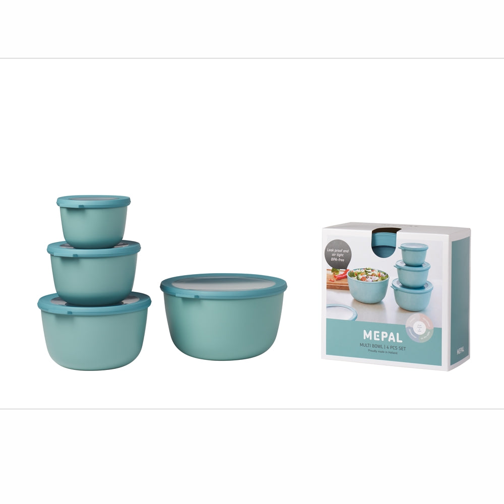 MEPAL | Multi Bowl Cirqula Set | 4 Pcs | 500ml/1000ml/2000ml/3000ml | Nordic Green