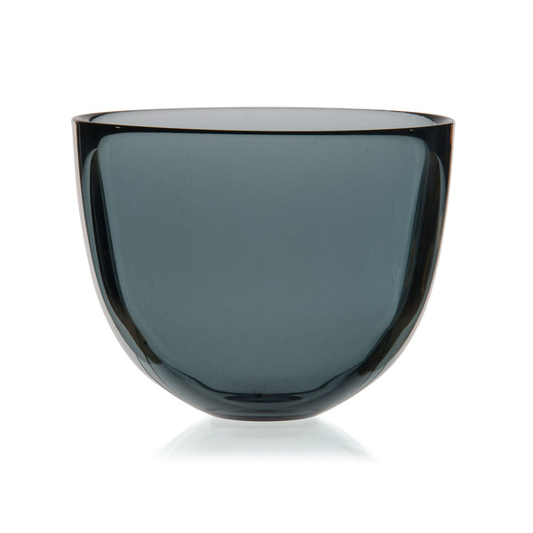 DAVID MELLOR | Glass Bowl | Smoke Grey | 13cm