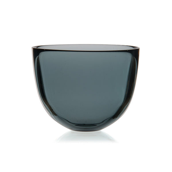 DAVID MELLOR | Glass Bowl | Smoke Grey | 10cm