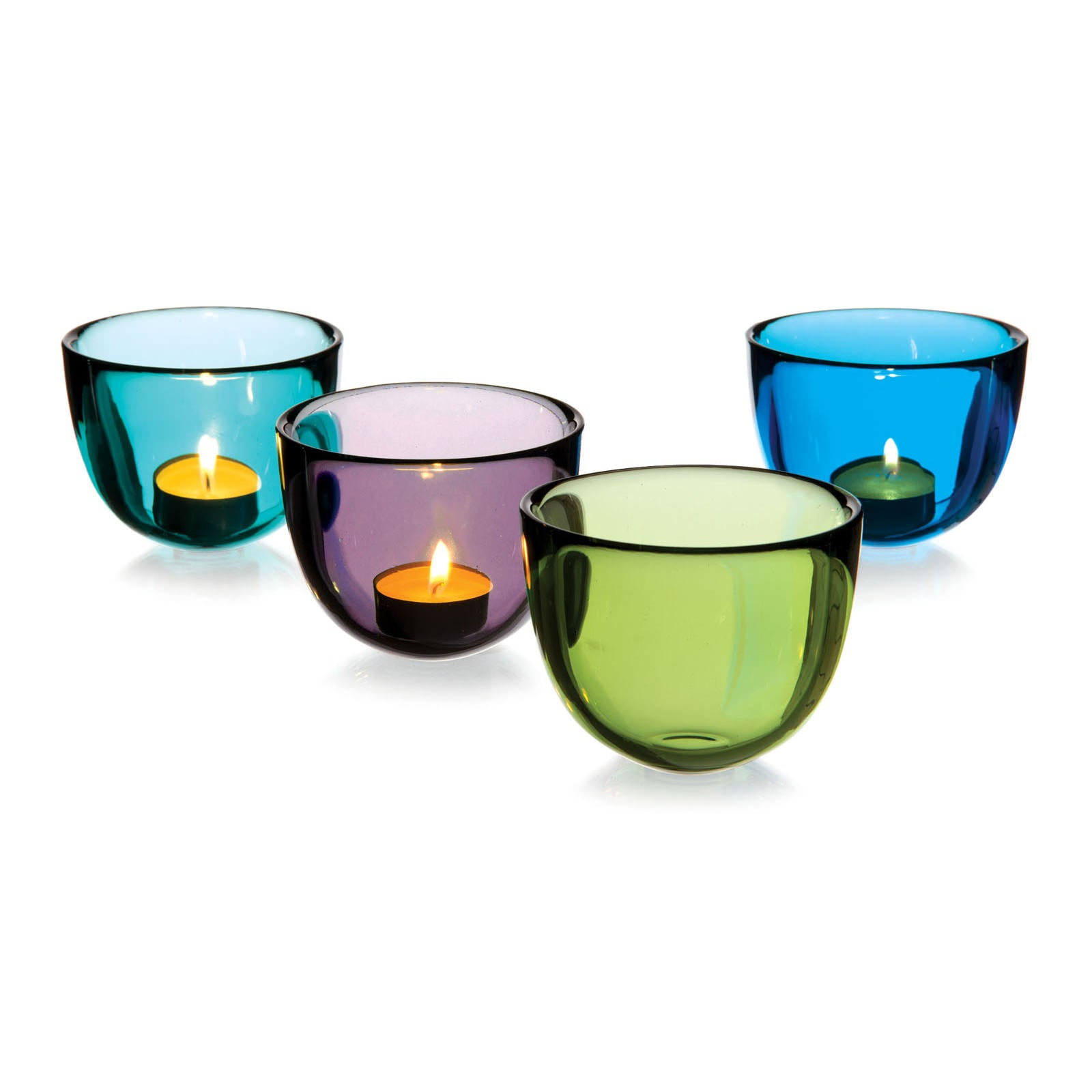 DAVID MELLOR | Glass Bowl/Candleholder | Smoke Grey | 7.5cm High | 10cm Dia