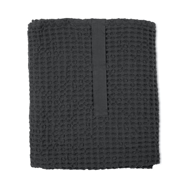 THE ORGANIC COMPANY | Big Waffle Towel & Blanket | Dark Grey