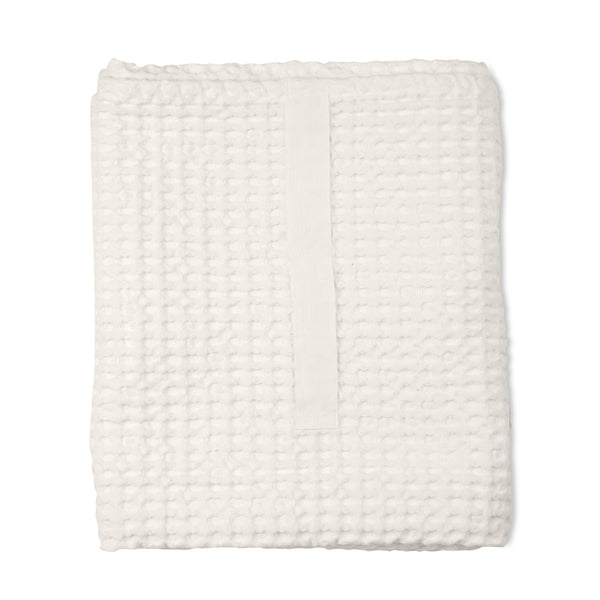 THE ORGANIC COMPANY | Big Waffle Towel & Blanket | Natural White
