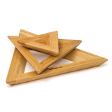 DAVID MELLOR | Trivets/TeaPot Stand | Set of 3 | Oak