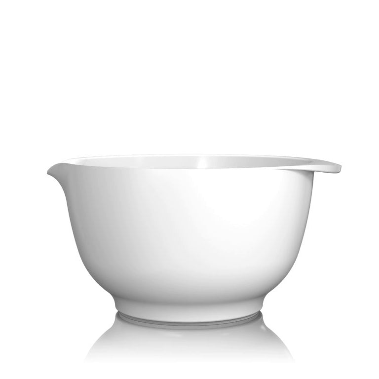 Rosti Margrethe Mixing Bowl | 3L Bowl with FREE Lid Cover | White