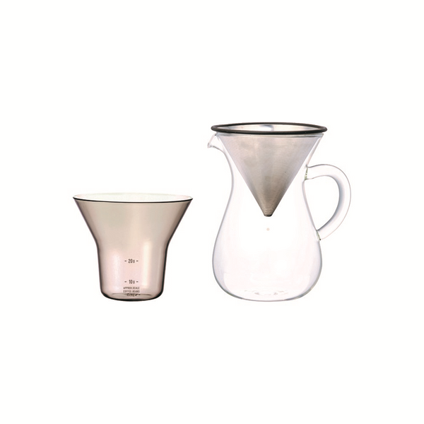 KINTO | SCS-02 Coffee Carafe Set | Stainless Steel | 300ml